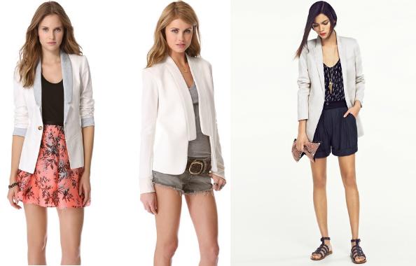 blazer com saia ou calção