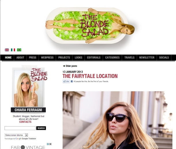 Blogs de Moda Internacionais - The Blonde Salad
