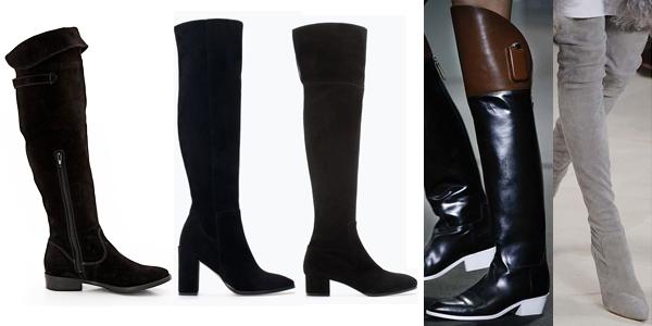 Preços baixos em Botas Zara acima do joelho para mulheres | eBay