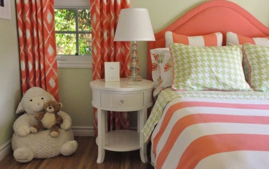 decoração em tom laranja
