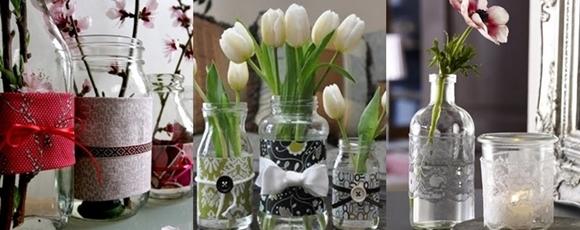 Ideias para reciclar frascos de vidro 2