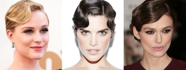 Penteados de festa para cabelos curtos - vintage